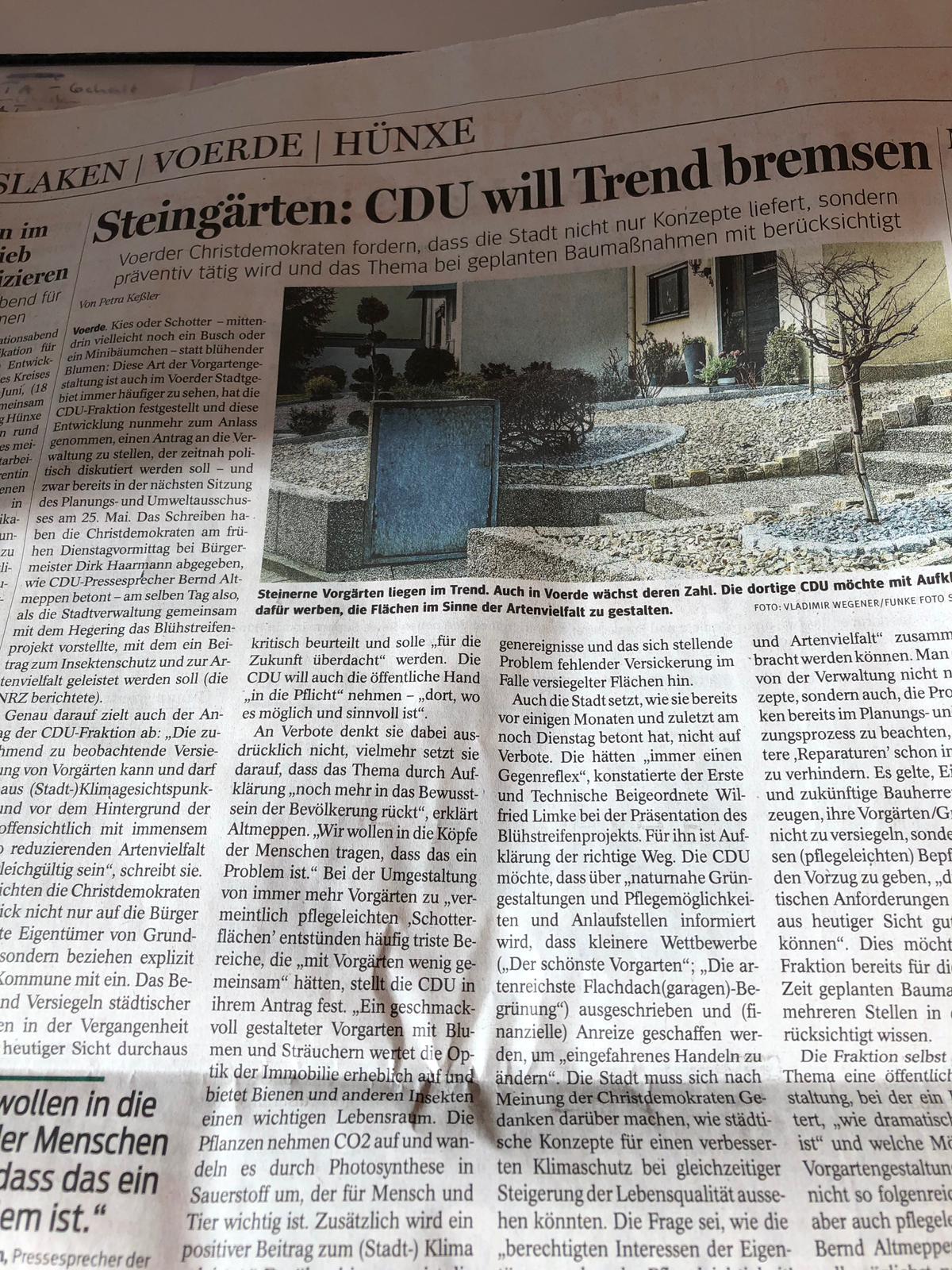 Eine Idee wird ja nicht schlecht, wenn die CDU sie übernimmt ;-)