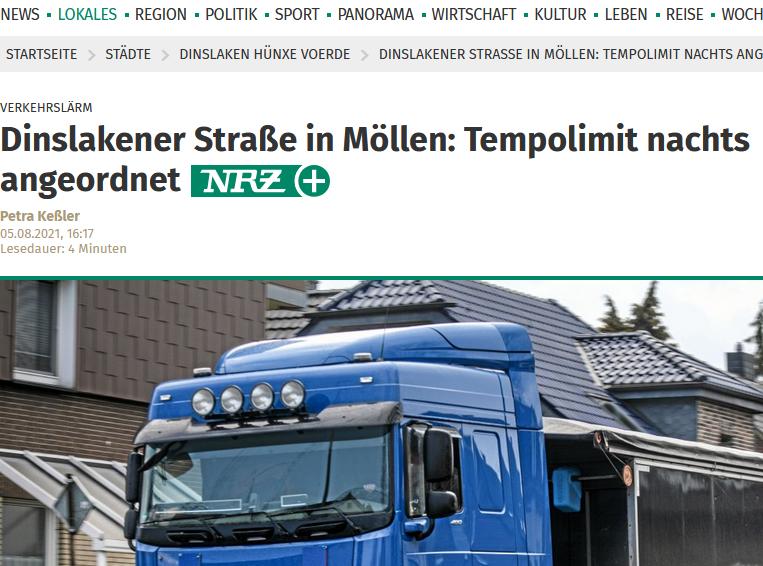 Mehr Ruhe für Möllener Bürger*innen