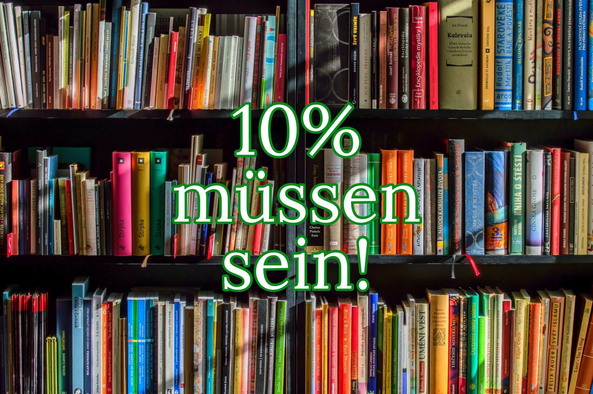 10% Erneuerung in der Bibliothek
