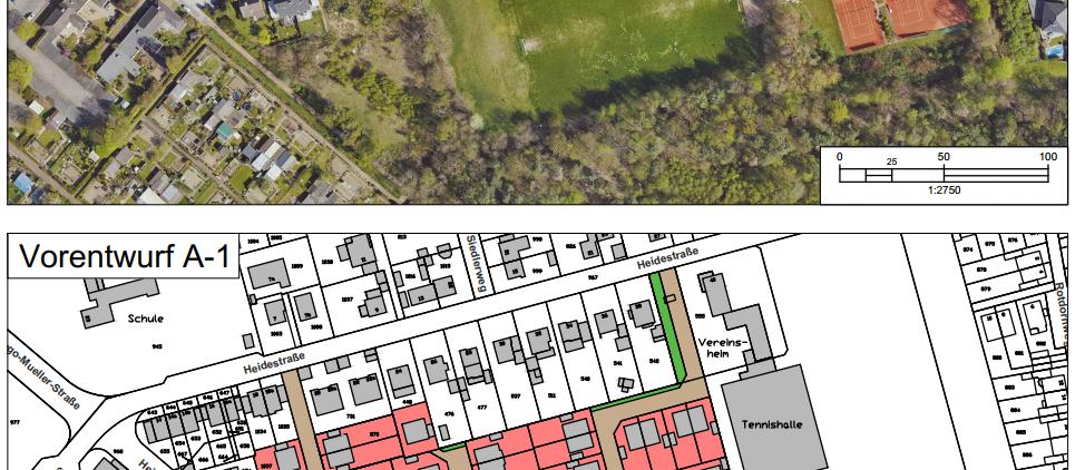 Anfrage: Neubaugebiet ehemaliger Sportplatz Heidestraße